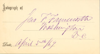 Autographs: BRIGADIER GENERAL JOHN FRANKLIN FARNSWORTH - PRINTED CARD SIGNED IN INK 04/05/1869