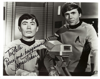 GEORGE TAKEI - AUTOGRAPHED INSCRIBED PHOTOGRAPH