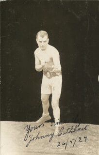 JOHNNY CUTHBERT - AUTOGRAPHED SIGNED PHOTOGRAPH 05/26/1927