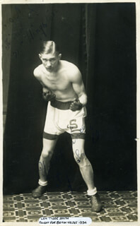 LEN TIGER SMITH - PICTURE POST CARD SIGNED CIRCA 1931