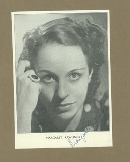 MARGARET RAWLINGS - MAGAZINE PHOTOGRAPH SIGNED CO-SIGNED BY: ENA BURRILL