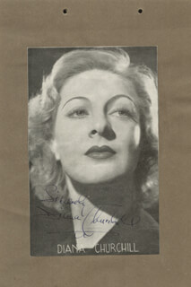 DIANA CHURCHILL - MAGAZINE PHOTOGRAPH SIGNED CO-SIGNED BY: DAME IRENE VANBRUGH, GRIFFITH JONES