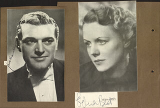 JACK HAWKINS - NEWSPAPER PHOTOGRAPH SIGNED CO-SIGNED BY: EDNA BEST