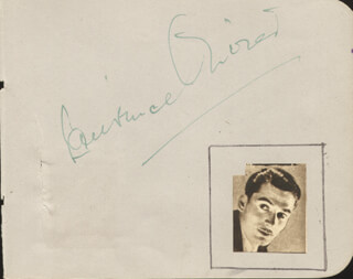 LAURENCE OLIVIER - AUTOGRAPH CO-SIGNED BY: ANNA NEAGLE