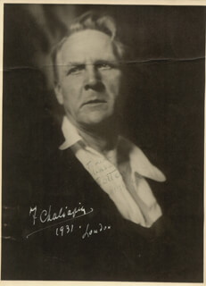 FEODOR IVANOVICH CHALIAPIN - AUTOGRAPHED SIGNED PHOTOGRAPH 1931
