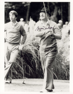 BYRON NELSON - AUTOGRAPHED SIGNED PHOTOGRAPH