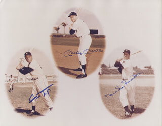 MICKEY MANTLE - AUTOGRAPHED SIGNED PHOTOGRAPH CO-SIGNED BY: WILLIE SAY HEY KID MAYS, DUKE SNIDER