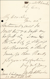 Autographs: WILLIAM B. ALLISON - AUTOGRAPH LETTER SIGNED 2/6