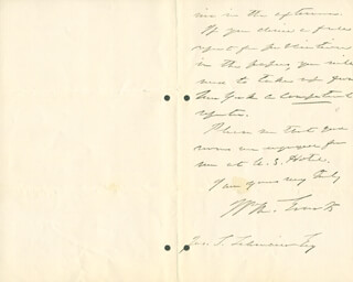 Autographs: WILLIAM M. EVARTS - AUTOGRAPH LETTER SIGNED 07/06/1888