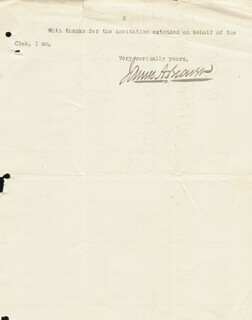Autographs: GOVERNOR JAMES A. BEAVER - TYPED LETTER SIGNED 01/30/1888