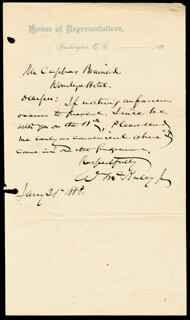 Autographs: PRESIDENT WILLIAM McKINLEY - AUTOGRAPH LETTER SIGNED 01/21/1888