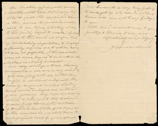 PRESIDENT JEFFERSON DAVIS (CONFEDERATE STATES OF AMERICA) - MANUSCRIPT LETTER SIGNED 09/15/1881