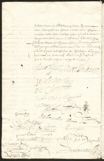 DUCHESS OF MONTPENSIER (ANNE MARIE LOUISE D'ORLEANS) - DOCUMENT SIGNED 11/1659