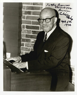 EUBIE BLAKE - AUTOGRAPHED INSCRIBED PHOTOGRAPH 04/05/1972