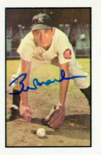 BILLY MARTIN - TRADING/SPORTS CARD SIGNED CIRCA 1983