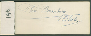 Autographs: THEODORE THEO BAMBERG - PAMPHLET SIGNED CIRCA 1947