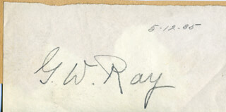 G. W. RAY - AUTOGRAPH 05/12/1935