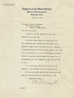 WILLIAM R. COYLE - TYPED LETTER SIGNED 06/13/1929