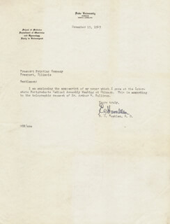 E. C. HAMBLEN - TYPED LETTER SIGNED 11/19/1943