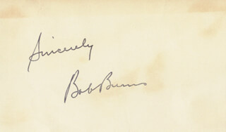 BOB BAZOOKA BURNS - AUTOGRAPH SENTIMENT SIGNED