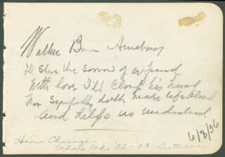 WALLACE BRUCE AMSBARY - AUTOGRAPH NOTE SIGNED