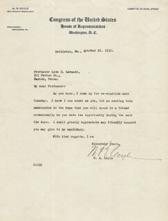 WILLIAM R. COYLE - TYPED LETTER SIGNED 10/28/1930