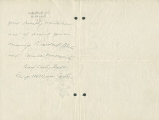 GEORGE WILLIAM CURTIS - AUTOGRAPH LETTER SIGNED 12/06/1883
