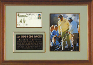 GENE SARAZEN - FIRST DAY COVER SIGNED 1989 CO-SIGNED BY: SAM SLAMMING SAMMY SNEAD