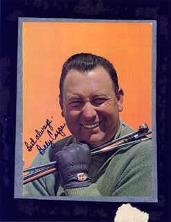 BILLY CASPER - MAGAZINE PHOTOGRAPH SIGNED