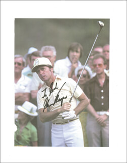 GARY PLAYER - INSCRIBED MAGAZINE PHOTO SIGNED