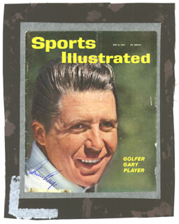 GARY PLAYER - MAGAZINE COVER SIGNED