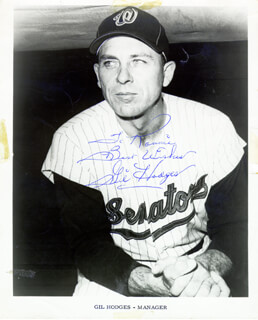 GIL HODGES - AUTOGRAPHED INSCRIBED PHOTOGRAPH
