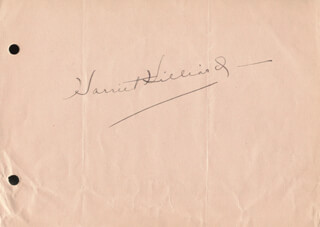 HARRIET HILLIARD NELSON - AUTOGRAPH