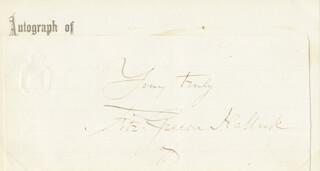 FITZ-GREENE HALLECK - AUTOGRAPH SENTIMENT SIGNED