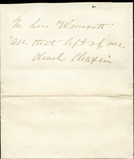 CHARLIE THE LITTLE TRAMP CHAPLIN - AUTOGRAPH NOTE SIGNED