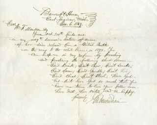GEORGE FRANCIS TRAIN - AUTOGRAPH LETTER SIGNED 12/06/1869