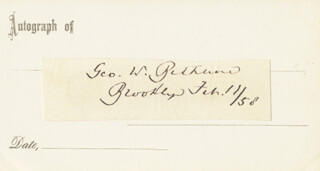 Autographs: GEORGE W. BETHUNE - SIGNATURE(S) 02/11/1858