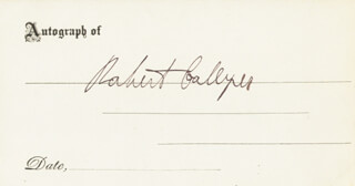 ROBERT COLLYER - PRINTED CARD SIGNED IN INK