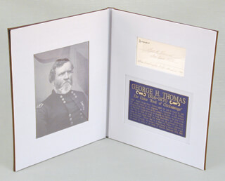 Autographs: MAJOR GENERAL GEORGE H. THOMAS - PRINTED CARD SIGNED IN INK 03/20/1869