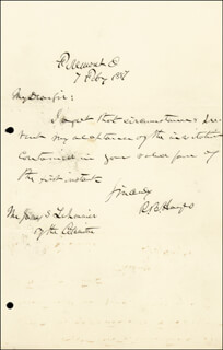 PRESIDENT RUTHERFORD B. HAYES - AUTOGRAPH LETTER SIGNED 02/07/1887