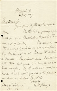 PRESIDENT RUTHERFORD B. HAYES - AUTOGRAPH LETTER SIGNED 07/02/1887