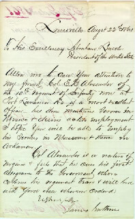 Autographs: JAMES GUTHRIE - MANUSCRIPT LETTER SIGNED 08/22/1861