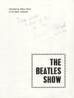 CILLA BLACK - AUTOGRAPH NOTE SIGNED