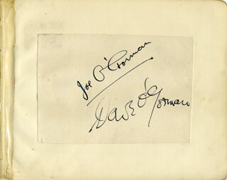 JOE O'GORMAN - AUTOGRAPH CO-SIGNED BY: DAVE O'GORMAN