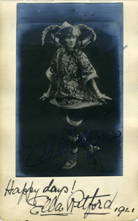 ELLA RETFORD - AUTOGRAPHED SIGNED PHOTOGRAPH CIRCA 1921 CO-SIGNED BY: HARRY WELDON