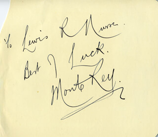 MONTE REY - AUTOGRAPH NOTE SIGNED