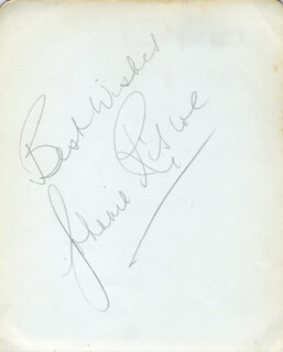 JOHNNIE RISCOE - AUTOGRAPH SENTIMENT SIGNED