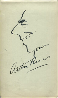 ARTHUR RISCOE - SELF-CARICATURE SIGNED