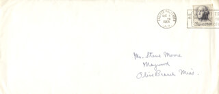 PRESIDENT RONALD REAGAN - AUTOGRAPH ENVELOPE UNSIGNED CIRCA 1964  - HFSID 141944