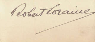 MAJOR ROBERT LORAINE - AUTOGRAPH